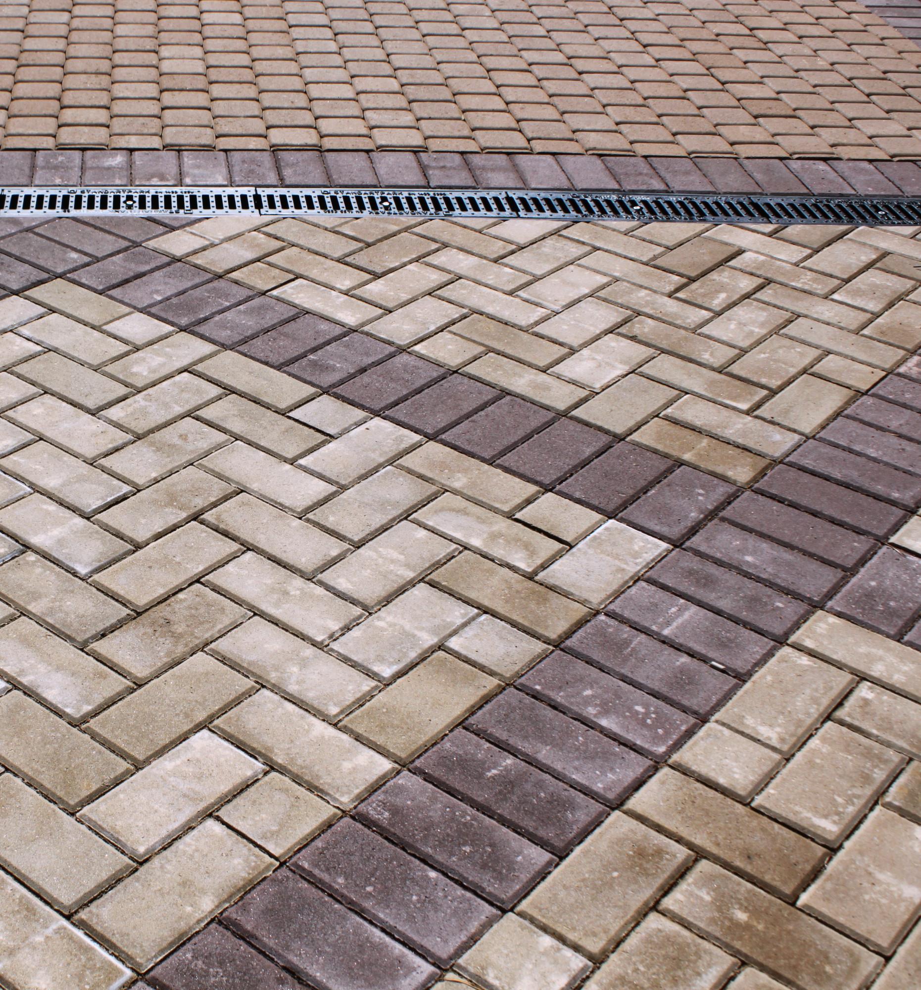тротуарная плитка и ливневая канализация
